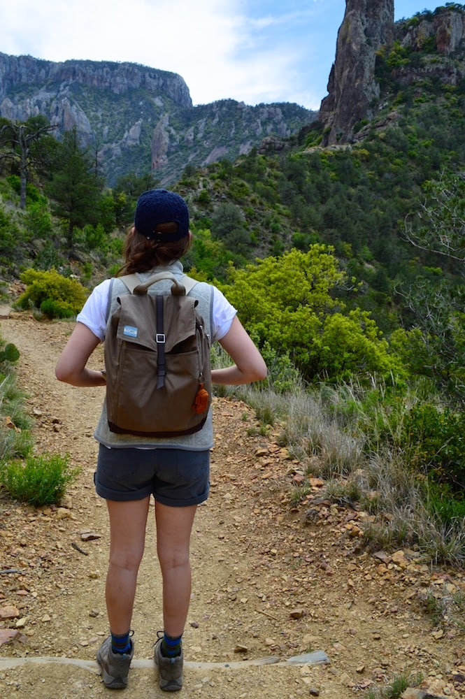 Hiking the Chisos Mountains, Tom's Canvas Backpack, Tom's Trekker Backpack