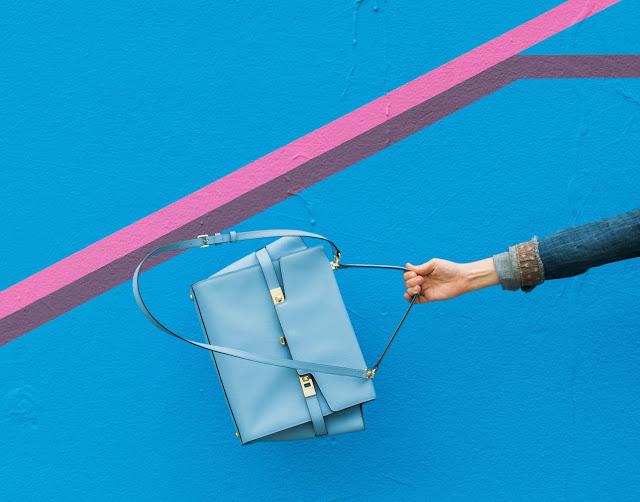 henri bendel uptown satchel, henri bendel light blue purse, henri bendel purse, henri bendel satchel, henri bendel blue satchel