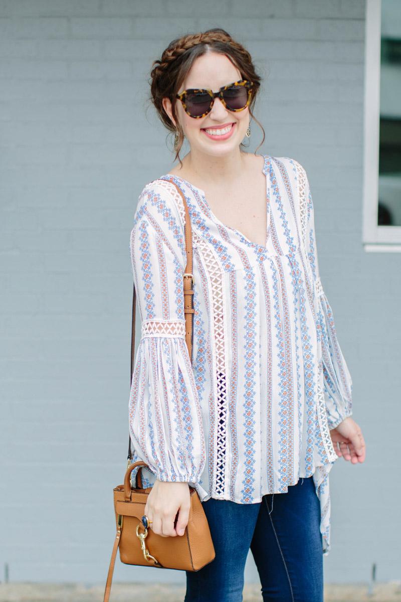 Chicwish Posie Striped Tunic Top
