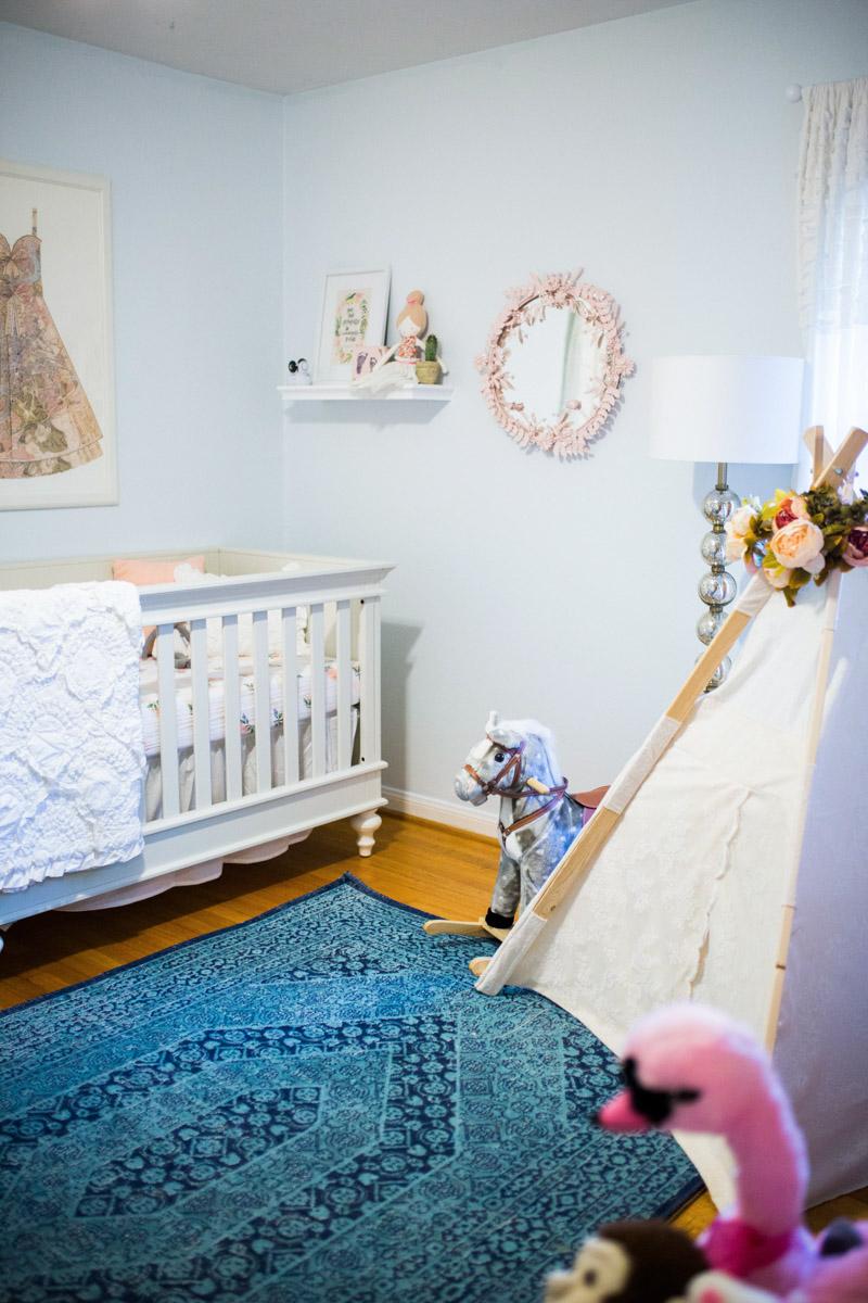Baby Girl Nursery Reveal Lone Star Looking Glass