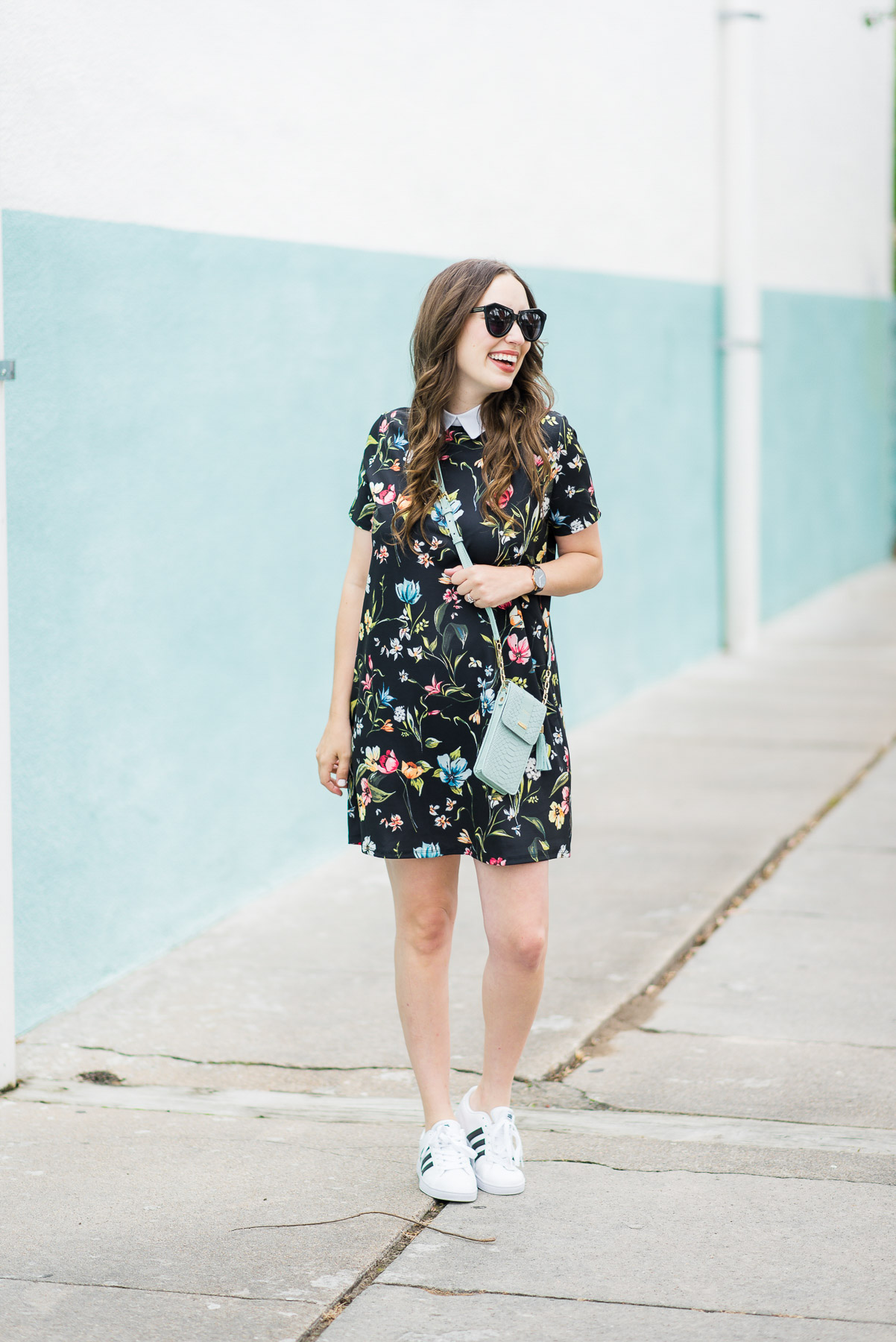 Floral Mini Dress Sneakers Lone Star Looking Glass