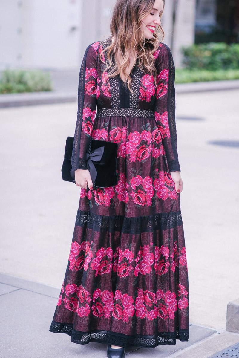 f9c3951e81 Houston Blogger Alice Kerley styles Cecilia Prado s Rose Sweater Maxi Dress  from Anthropologie